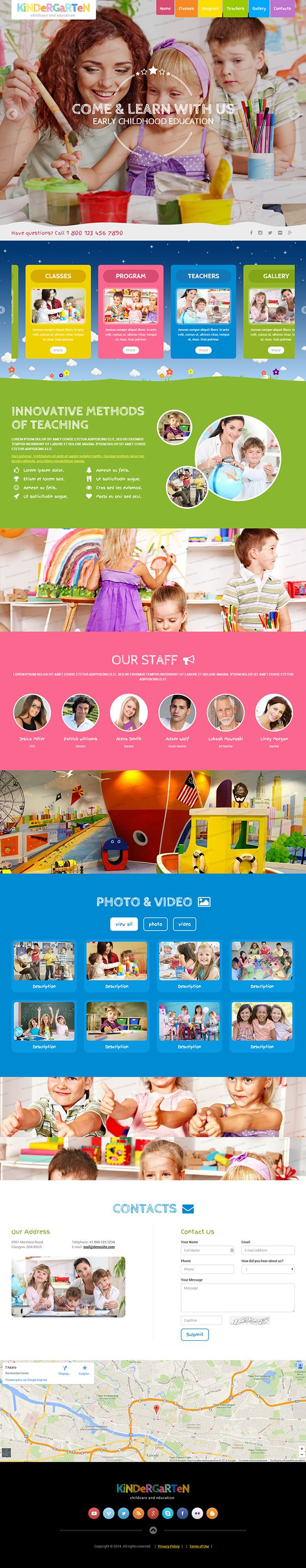 Kindergarten HTML Template by Dynamic Template, via Behance more on http://html5themes.org