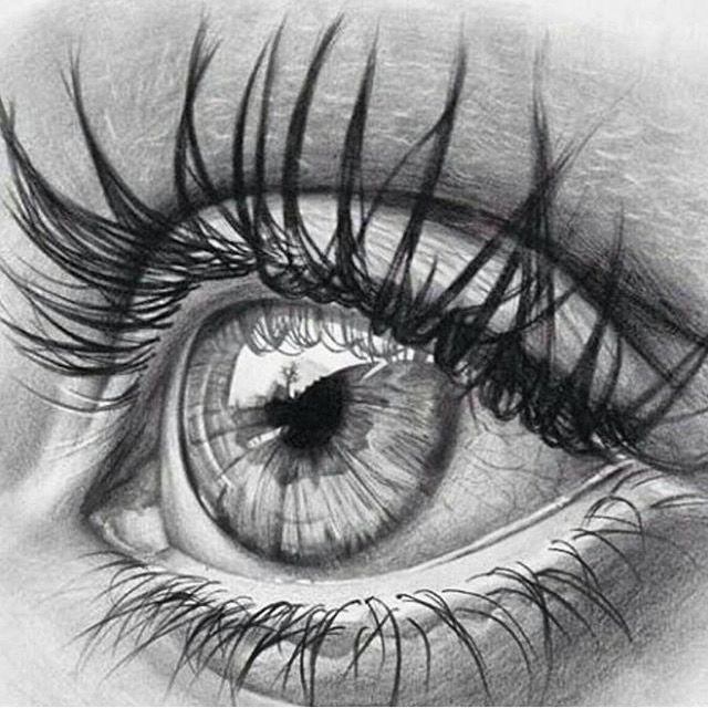 Drawn Lady mit echten 3D bunten Augenzeichnungen und Techniken – Zeichnung … #…