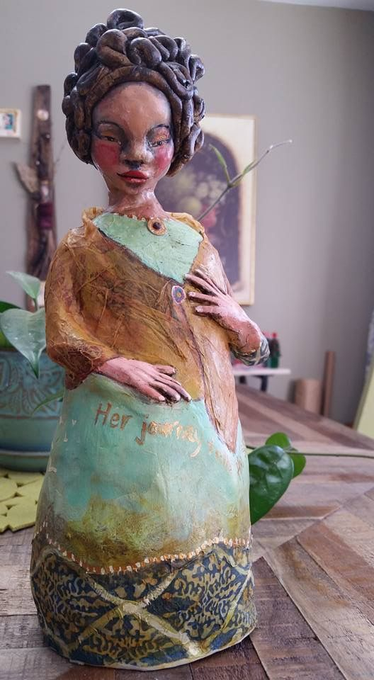 "Paper clay sculpture, ""Captured in a Moment"" created by Victoria       Gilpin"