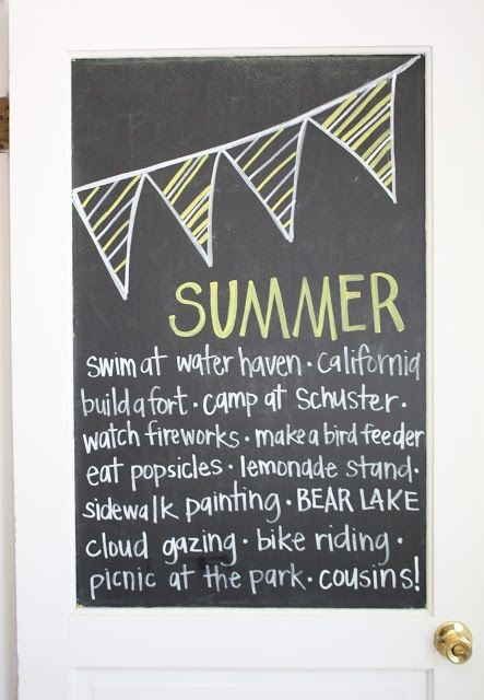 Image result for pinterest summer chalkboard art