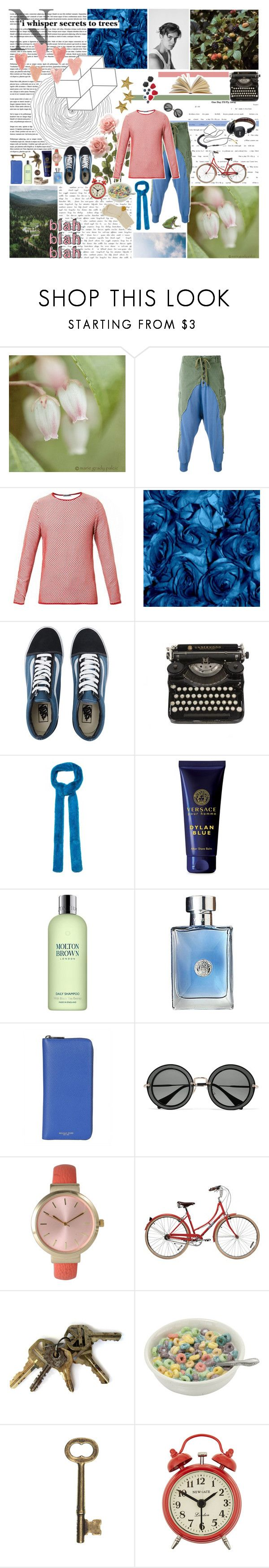 """""""we could be future friends (+ description)"""" by whimsical-angst ❤ liked on Polyvore featuring Greg Lauren, J.W. Anderson, Vans, Gucci, Versace, Molton Brown, Michael Kors, Miu Miu, Olivia Pratt and Newgate"""