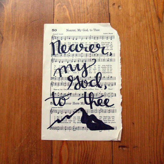 Nearer My God To Thee- Vintage Handlettered Hymn