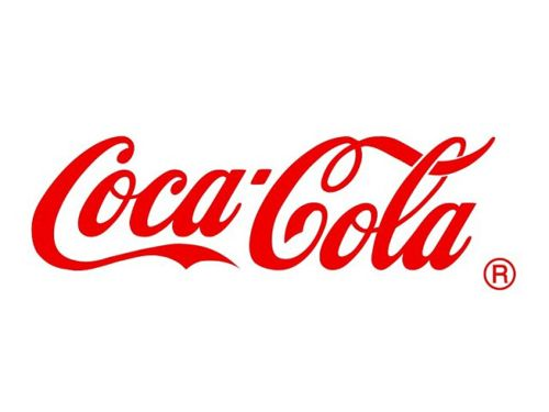 This is a logo with a unique font that can be easily recognized as Coca-Cola throughout the world.