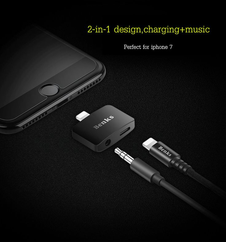 Benks 2-in-1 Upgraded Charger Adapter + 3.5mm Earphone Jack Converter For iphone 7 iphone 7 plus