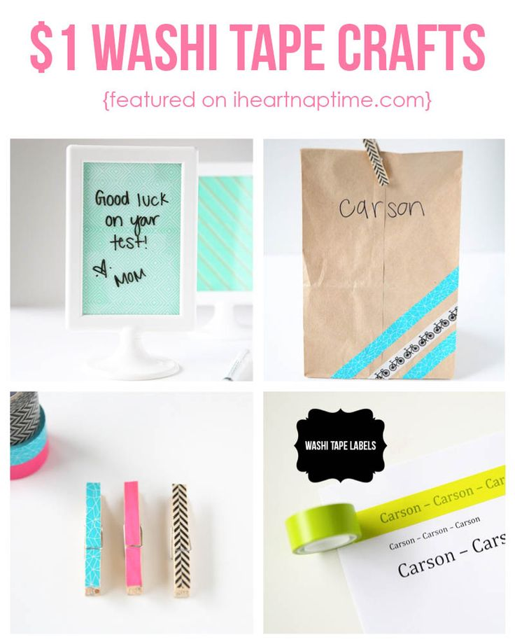 $1 washi tape crafts you can create in 5 minutes! Cute ideas on iheartnaptime.com #DIY #ScotchBTS