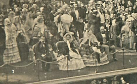 1855 at Crystal Palace: V&A with Emperor Napoléon and Empress Eugenie