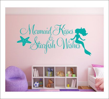Mermaid Kisses Wall Decal Starfish Wishes by CustomVinylbyBridge