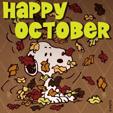 Happy October - Snoopy