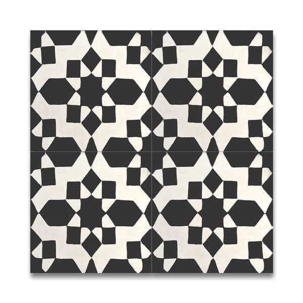 Affos Grey and Blue Handmade Moroccan 8 x 8 inch Cement and Granite Floor or Wall Tile (Case of 12)