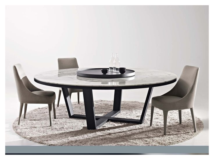 Great design for large round dining table