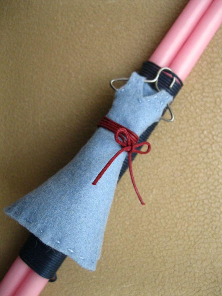 Blue Frock Baptism/Easter Lambada Handmade by Eikosi2 on Etsy