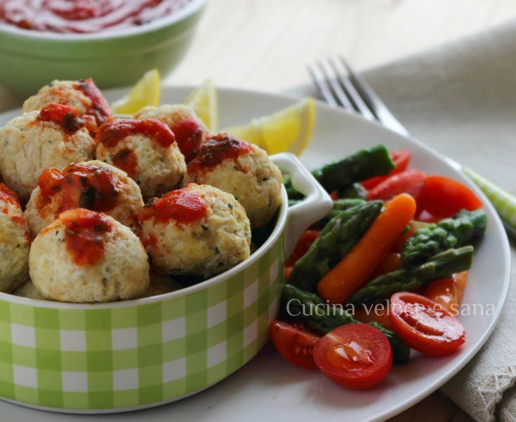Polpettine+di+pollo,+ricotta+e+limone+cotte+al+vapore