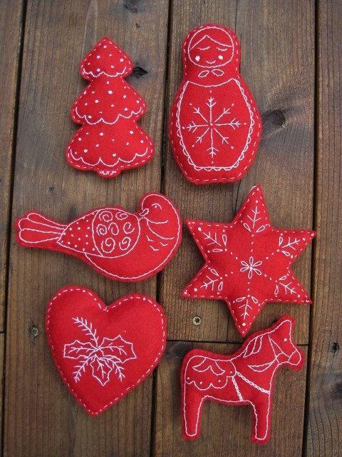 25 best scandinavian christmas ornaments images on for Scandinavian christmas craft ideas