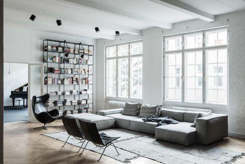 Un loft con estudio de música en Berlín