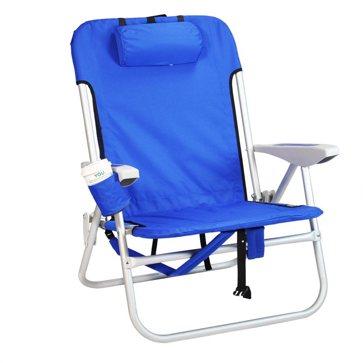 Heavy Duty Backpack Beach Chair By Rio   Solid Blue