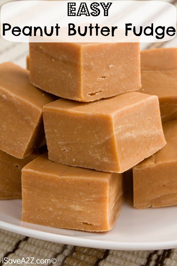 Easy Peanut Butter Fudge -I can't believe this recipe has only 4 INGREDIENTS!!! Tastes amazing!!!