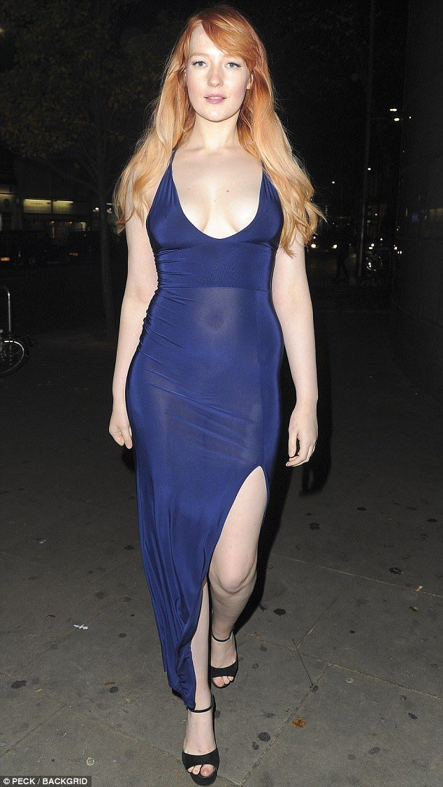 Sheer Perfection Bntm Star Victoria Clay Went Braless In A Plunging Semi Blue