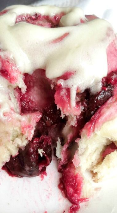 Mixed Berry Sweet Rolls with Vanilla Cream Cheese Glaze