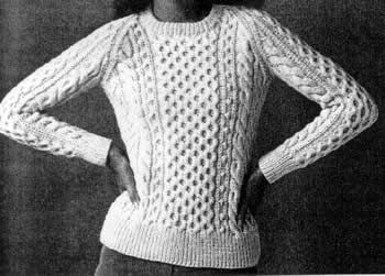 Pulling ideas together for an Aran-style summer sweater.