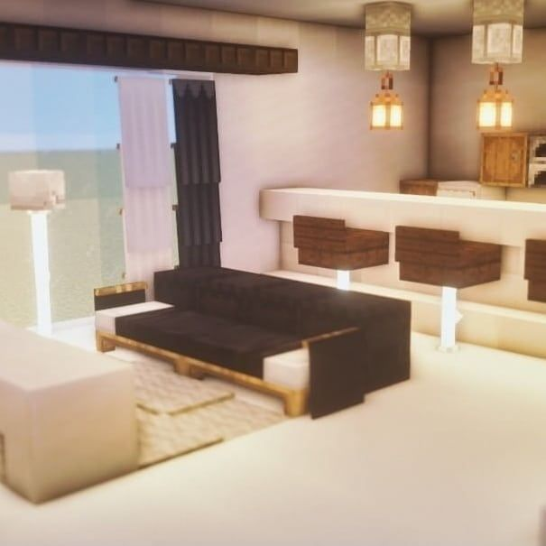 Couple Of Crafting On Instagram Living Room Fantasy House And Indoor Garden Loft Follow Us For More And In 2020 Minecraft House Designs Minecraft Room Minecraft Furniture