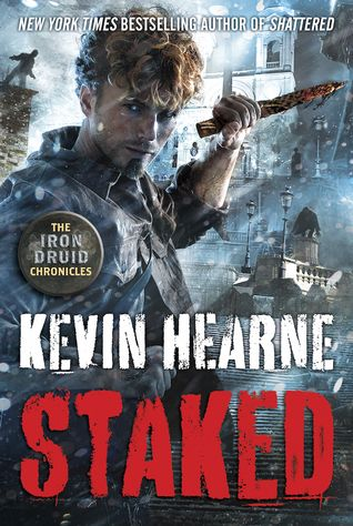 Cover Reveal: Staked (The Iron Druid Chronicles #8) by Kevin Hearne  -On sale January 26th 2016 by Del Rey  -This hilarious and action-packed urban fantasy series is set in a modern world in which all the gods of every pantheon are alive and well, as in American Gods; its hero is a smart-mouthed, buttkicking magician, like Jim Butcher's Harry Dresden.