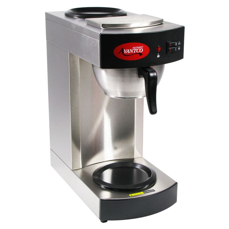 Our coffee brewer took a dump on us so I'm think the next one is going to be a commercial grade one like this guy: Avantco C10 12 Cup Pourover Commercial Coffee Maker with 2 Burners (120V)