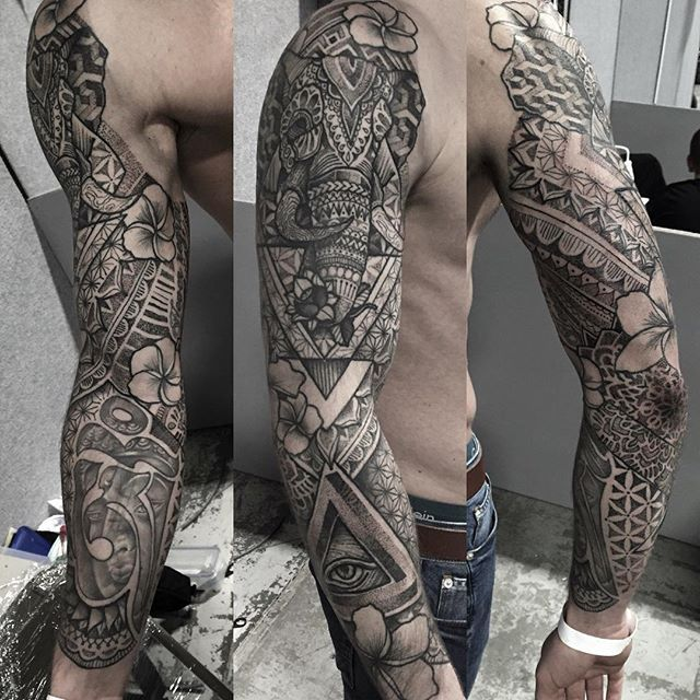 First one done @tattooteaparty finished off this sleeve I started on mark last…