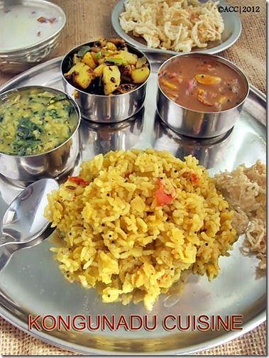 Chitra's Food Book: KONGU CUISINE– KONGUNADU LUNCH RECIPES