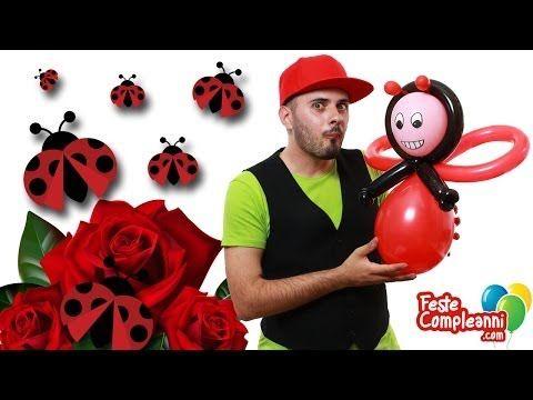 Balloon Ladybug - Palloncino Coccinalla - Palloncino modellabile Coccinella, how to twist a Ladybug with balloon art. Decorare con i palloncini modellabili per sculture.  alloncino Coccinella - Balloon Ladybug - Nella puntata di oggi vedremo insieme come realizzare unafigura con i palloncini modellabili a forma di Ladybug, la simpatica Coccinella portafortuna!!!
