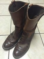 Vintage 70-80's Red Wing Leather Motorcycle Boots Made In USA Men's 8.5 D