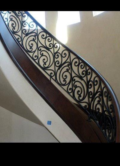 iron stair railing - Google Search