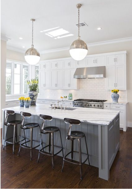 Love this kitchen island with seating for 4!