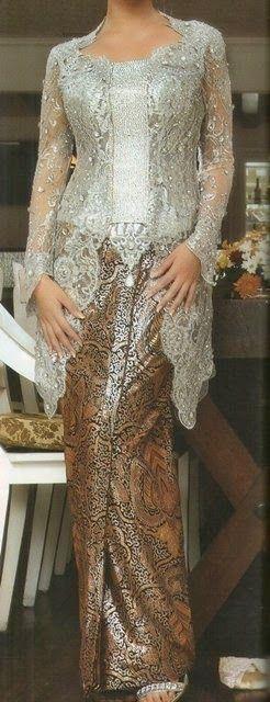 Silver Kebaya is Calm - International Kebaya Batik Modern