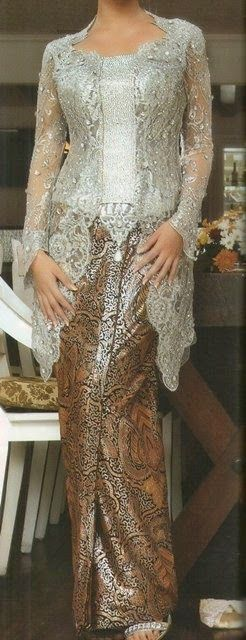 Silver Kebaya is Calm - International Kebaya Batik Modern