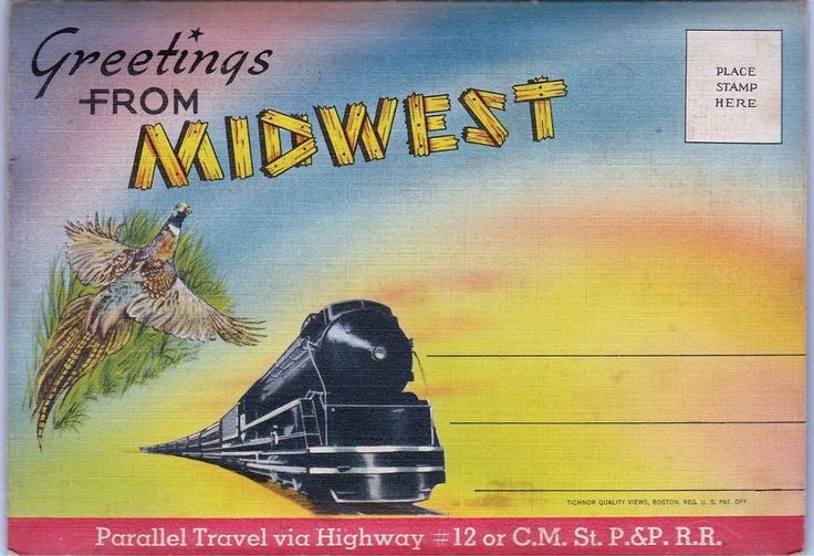 C.M. ST P P Railroad Parallel Route Map Highway 2 Jewel Huwe pub Lemmon SD ND MT