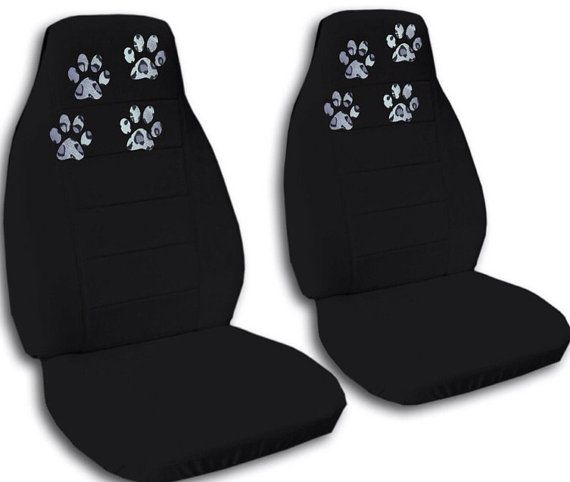 This Listing Is For 2 Front Seat Covers With Paw Prints