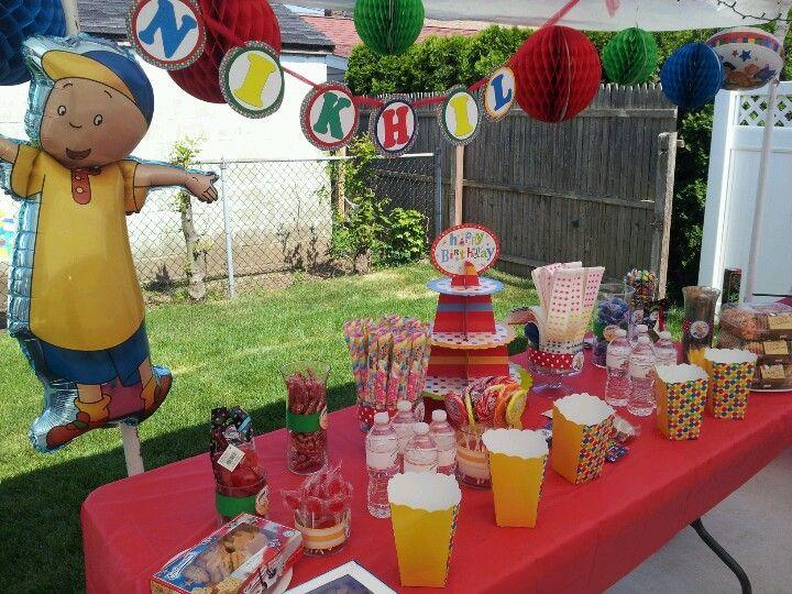 Caillou Birthday Party Weekendthird Birthdaybirthday Ideasbirthday