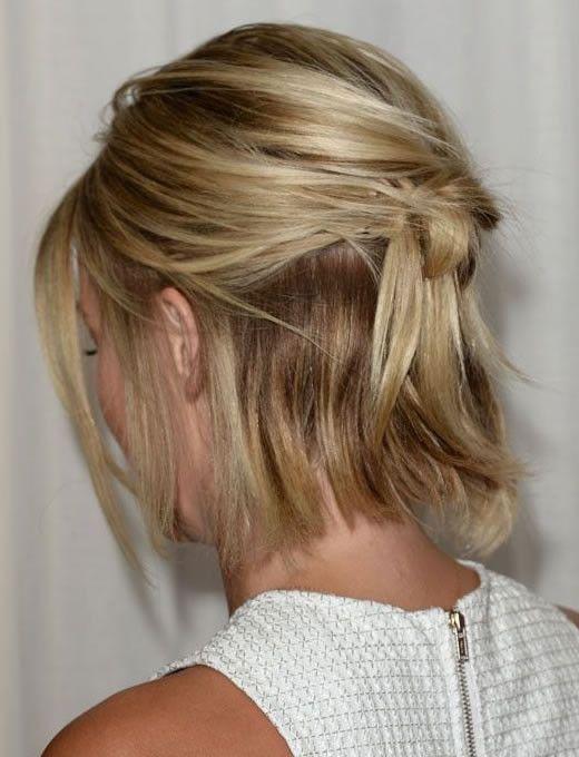 5 penteados para cabelos curtos e médios.