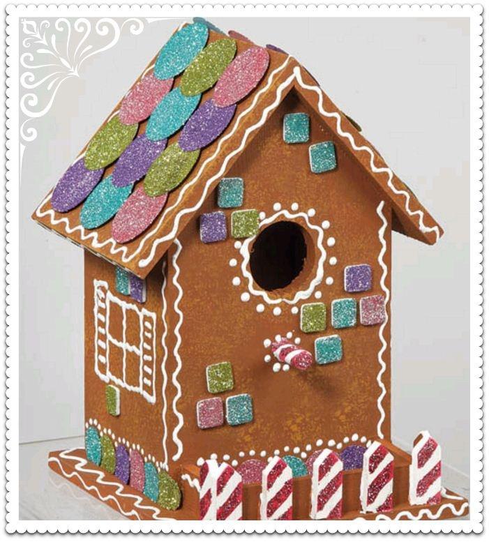 Wooden #Gingerbread House! #Adorbs  sc 1 st  Pinterest & 39 best Ceramic Birdhouse Ideas images on Pinterest   Bird houses ...