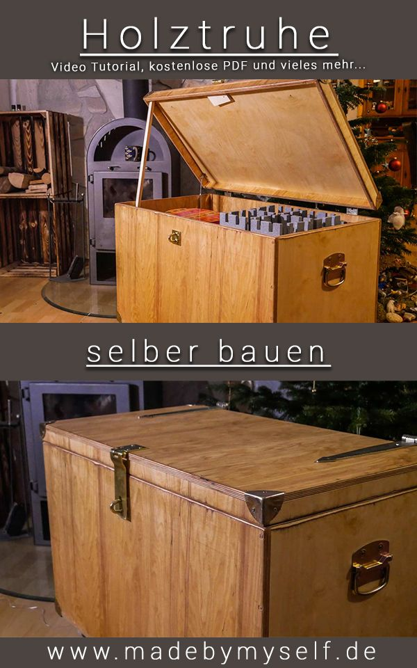 Holzkiste Truhe Selber Bauen Anleitung Video Tutorial Und Bauplan Holzkisten Holzkiste Selber Bauen Holzkiste Bauen