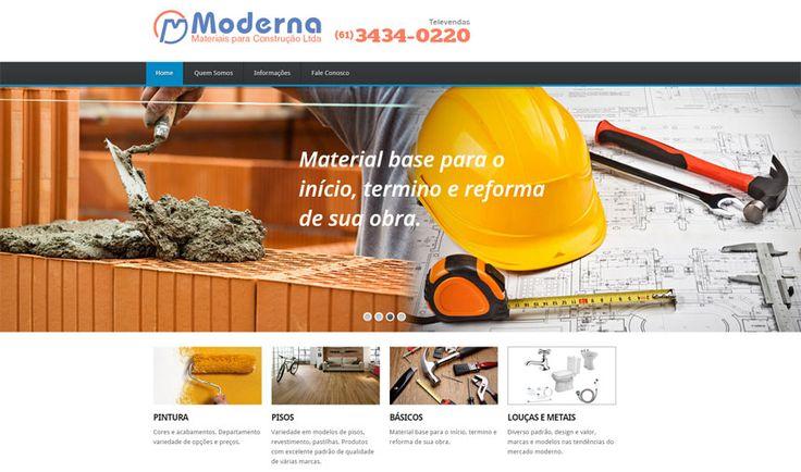 Criação do site Moderna Materiais Para Construção Ltda. Localizado no Recanto das Emas, Brasília-DF