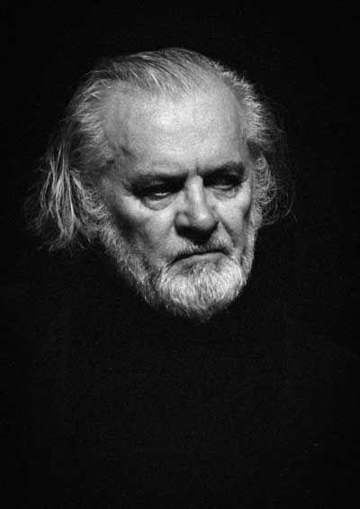 Tadeusz Łomnicki jako król Lear/ 1991/92 Teatr Nowy Poznań/ próby do spektaklu