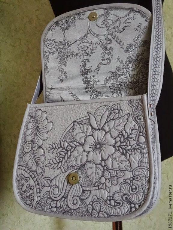 """Купить сумочка """"Путешествие """". - серебряный, серая сумка, маленькая сумка, женская сумка"""