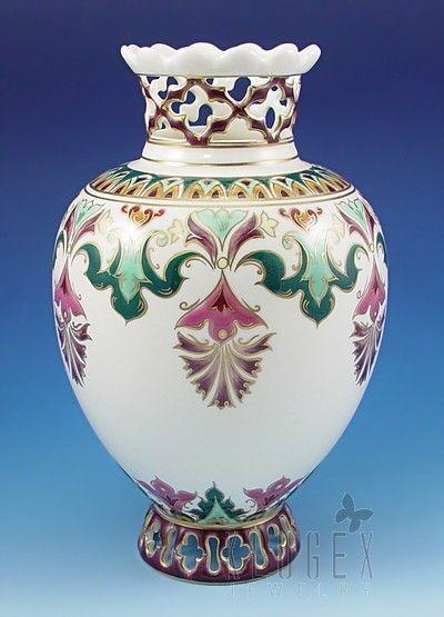 Openwork Zsolnay Vase Signed
