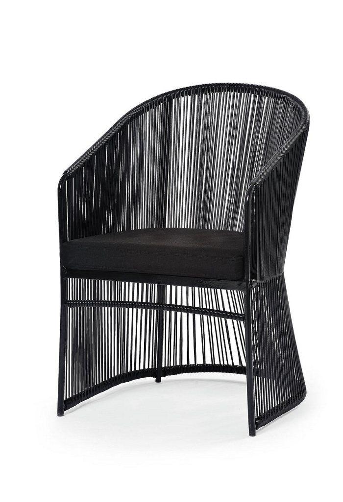 fauteuil de jardin de design italien Tibidabo en aluminium noir