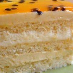 passionfruit opera cake