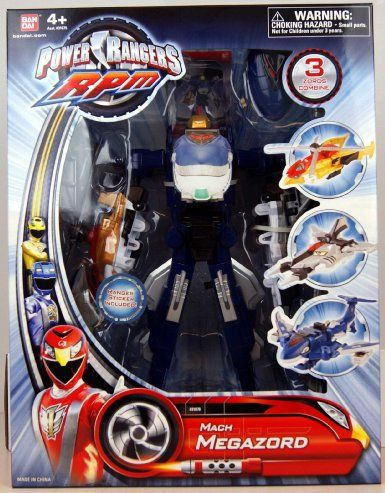 Power Rangers - 31078 - RPM - Racing Performance Machines - Mach Megazord - 3 Zords Combine: Amazon.co.uk: Toys & Games