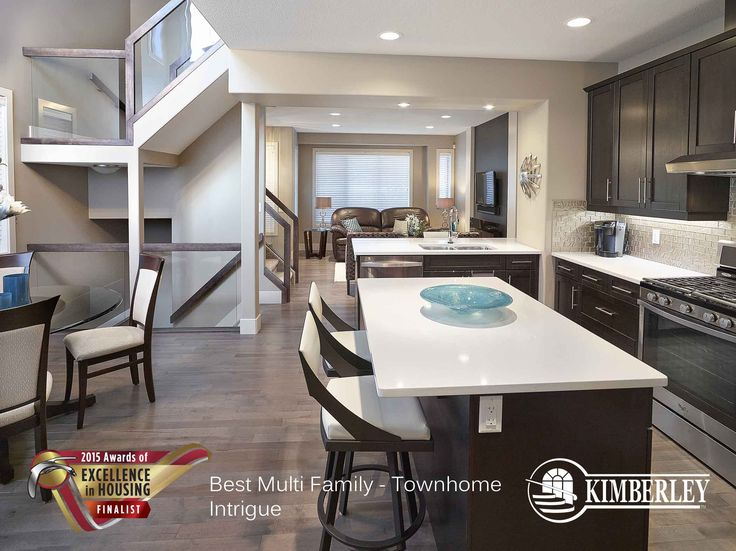 Intrigue Luxury Townhome in Larch Park. Kimberley Communities Awards of Excellence 2015 Finalist. http://buildwithkimberley.ca/communities/larch-park/ #buildwithkimberley #kimberleyhomesYEG #awardsofexcellence #townhome