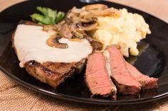 Copycat Applebee's Smothered Steak Skillet