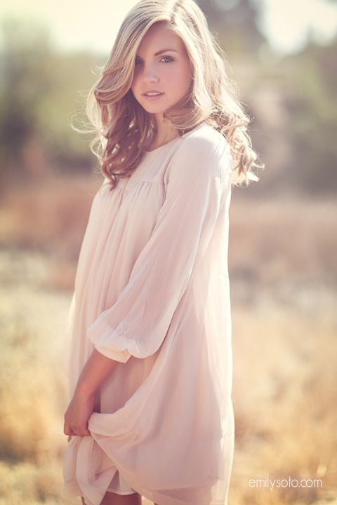 Beautiful example of natural and romantic hair & makeup for teen portraits